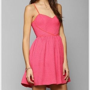 COOPERATIVE PINK QUEEN Of Hearts Fit & Flare Dress